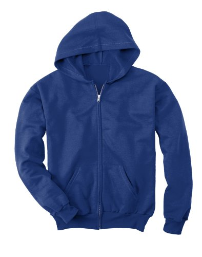 Hanes Big Boys' ComfortBlend EcoSmart Full-Zip Hoodie_Deep Royal_M