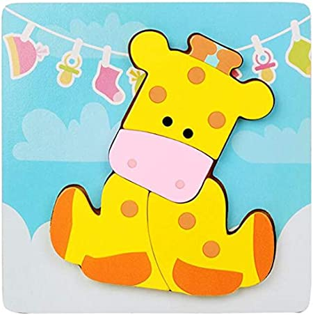 GRHOSE Wooden Animal Jigsaw Puzzles for Toddlers 1 2 3 4 5Years Old Boys/&Girls Educational Toys Gift 4 Packs Style B