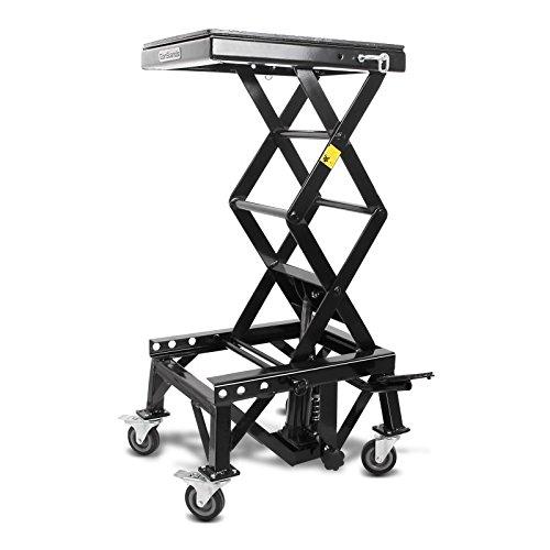 ConStands Hydraulik Hebebühne Moto Cross Lift XL + Rollen Schwarz