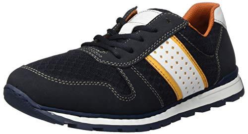 Rieker Frühjahr/Sommer 18712, Zapatos de Cordones Derby Hombre, Azul (Pazifik/Navy/Aperol/Weiss 14), 40 EU