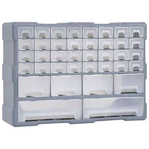 vidaXL Organizador Multicajones con 40 Cajones Herramientas Armario Pared Almacenamiento Taller Caja Manualidades Artesanía Costura Clavos