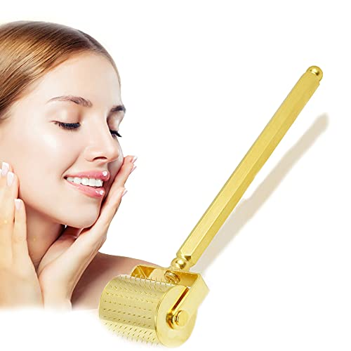 Rodillo Derma de Microagujas DRS 250 Titanio Dermaroller de Microneedle Masajeador Facial para el Cuidado de la Piel y el Crecimiento del Cabello,0.25mm