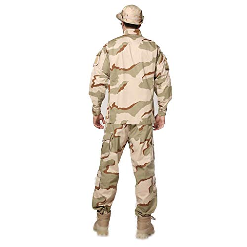 Camouflage Tactical Sports Suit 2-delige jas en dunne broek heren outdoor army fan suit uniform oorlogsspel Army Military Paintball Airgun schieten Camo junggel verborgen sporttrainingspak