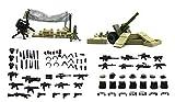 erie del Guerra moderna - Mini figuras de Legos personalizadas - Armadura de chaleco de fuerza especial con paquete de armas, almacenamiento de armas para campo de batalla del bosque 100 piezas