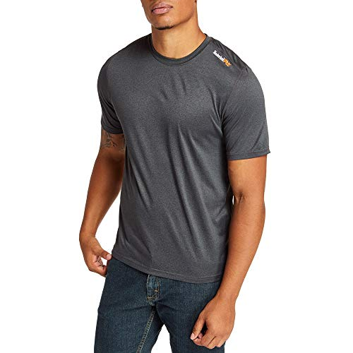 Timberland PRO Men's A1P1Z Wicking Good Sport Short Sleeve T-Shirt - Large - Dark Charcoal Heather
