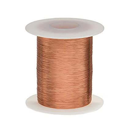 27 AWG Magnet Wire Heavy Build Enameled Copper Wire 0.0161 Diameter 2.5 lb 3928 Length Natural