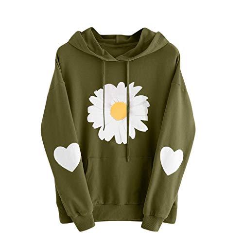 Eaylis Damen Herbst Winter Hoodie Frauen Sweatshirt Pullover Oberteile Langarmshirt Kapuzenpullover Mode-Bequem-Casual Pulli mit Kordel und Taschen
