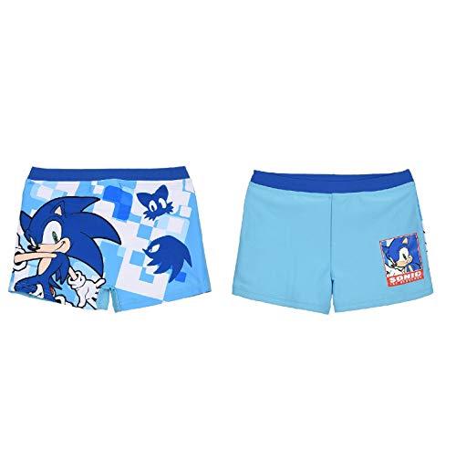 Bañador bóxer niño Sonic Azul Claro Talla 3 años