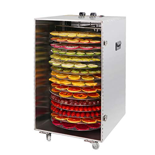Buy Bargain Large Food Dehydrator Machine Commercial Grade 16-Layer Stainless Steel Tray Automatic R...