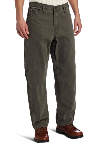 Dickies Herren-Jeans mit Entenmuster, Relaxed Fit, Sanded Duck - Grün - 38W / 30L
