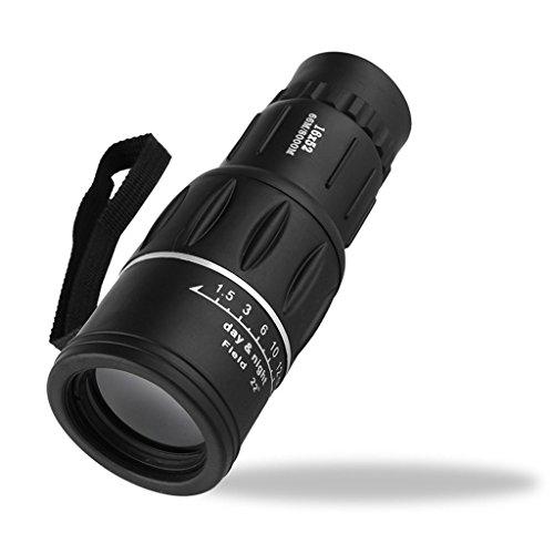 XHHWZB Telescopio monocular, 16X52 de Alta Potencia óptica de Doble Foco Prism Film, Alcance monocular para Observación de Aves/Caza/Camping/Senderismo/Golf/Concierto/Vigilancia