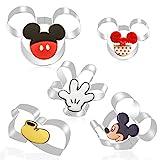 FHzytg 5 Stück Mickey Mouse Ausstecher, Mickey Mouse