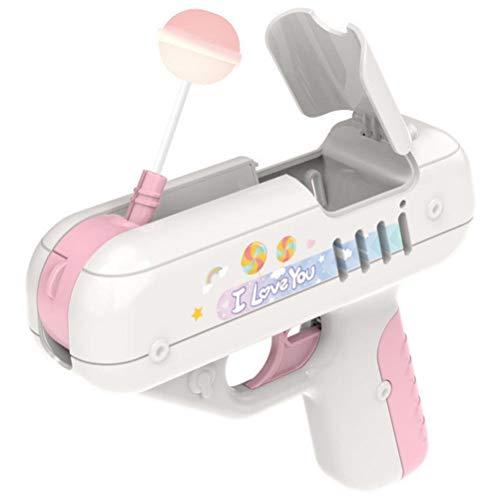 Miokycl Miokycland Candy Gun Lollipop Pistola Dulce Juguete, Juguete Ligero Lollipop Almacenamiento Juguetes, Creativo Regalo para Boy Friend Niños Juguete