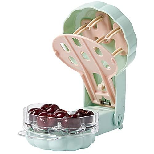 StrongAn Removedor de semillas de cerezas Dispositivo de cocina portátil para eliminar el núcleo de cerezas para eliminar 6 herramientas de cocina de cerezas - Verde claro