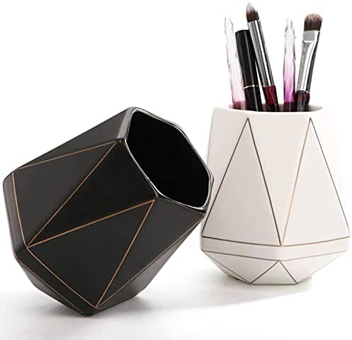 Dicunoy Set of 2 Pen Holder Great interest for New product type Makeup wi Cup Desk Brushes Cute