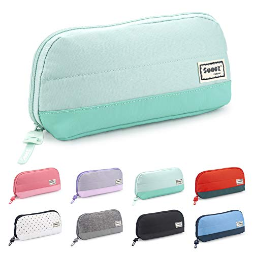 Sooez Wide-Opening Pencil Pen Case, Lightweight & Spacious Pencil Pouch Zipper Stationery Bag,...
