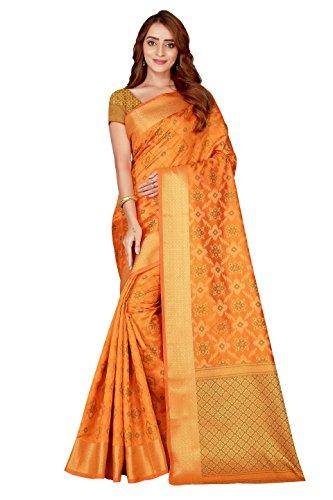 Trendy Store Women's Jacquard Silk Blend Saree With blouse piece