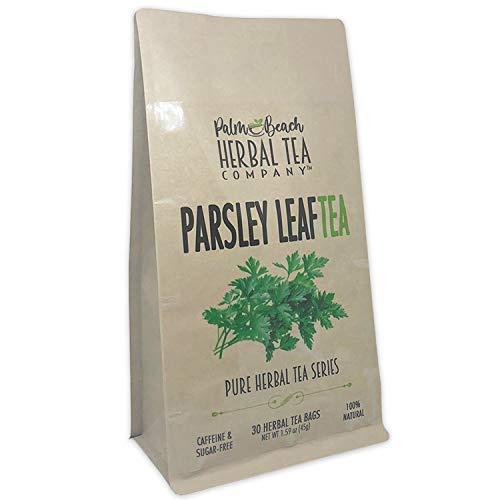 Parsley Leaf Tea - Pure Herbal Tea Series by Palm Beach Herbal Tea Company (30 Tea Bags) 100% Natural [Packaging May Vary]