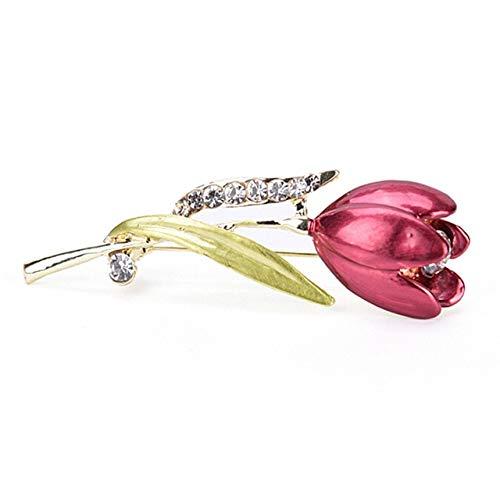 Broche de pájaro rojo para coche, diseño de búho, flor de rosa, gato, broche, collar, ramillete de animales, insignias de joyería para mujer, 6 unidades