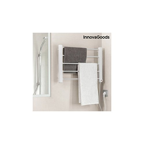InnovaGoods Toallero Eléctrico de Pared, Aluminio y...