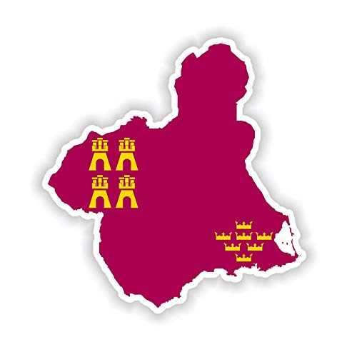 YLZH Etiqueta engomada del coche de color 11.7cm * 12.2cm Accesorios La región de Murcia Map Map Car Cuerpo Coche Calcomanía 6-1817 Logo sticker