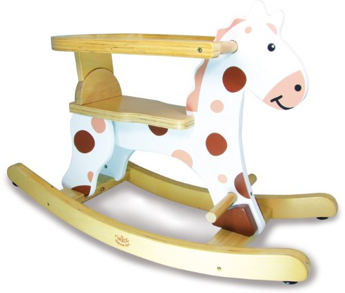 Vilac 1107 First Rocking Horse and Removable Hoop, White, Multi-Color