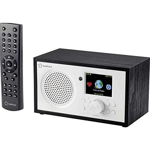 Renkforce RF-IR-MONOV2 Internet Tischradio Internet WLAN, Internetradio Akku-Ladefunktion, DLNA-fähig, Inkl. Fernbedien