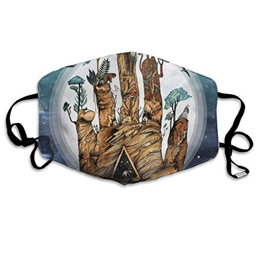 ZHENJIL Mundschutz Face Cover Mouth Cover Mouth Protection,Norse Warmer Five Elements Mountain Breathable Facial Decorations Adjustable Windproof Cover