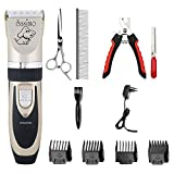 Aysis Professional Automatic Rechargeable Pet Hair Trimmer for Dogs (Multicolour)