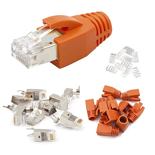 VCE 10 Pack Conector RJ45 blindado Cable Cat6A Cat7