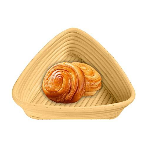 AKL Bread Proofing Proving Basket, Triangle Gärkorb Gärkörbchen Brotkorb, für selbstgemachtes Brot Artisan Bread,C