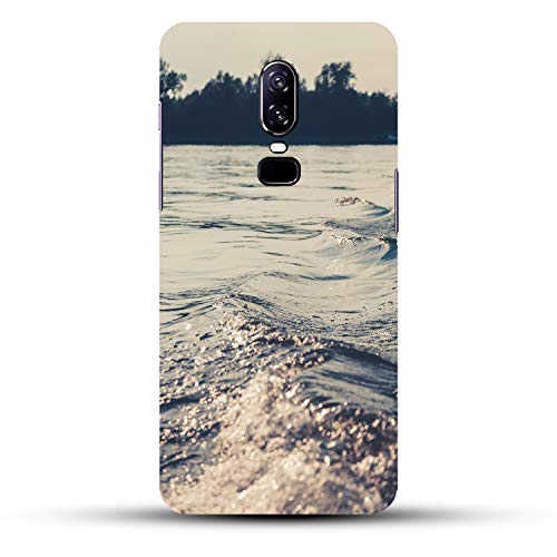 DREAMCART Beautiful Grey Water Effect Texture Nature Design Lovely Look Printed Hard Back CASE Mobile Cover Phone for ONEPLUS 6 / ONE Plus 6/1+ 6