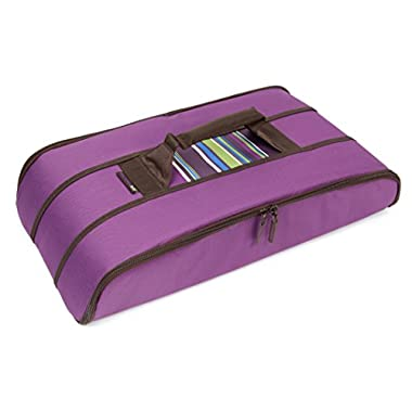 Rachael Ray Stowaway Potlucker, Holds Larger Casseroles/Baking Dishes Up To 10 X 15 Inches, Purple