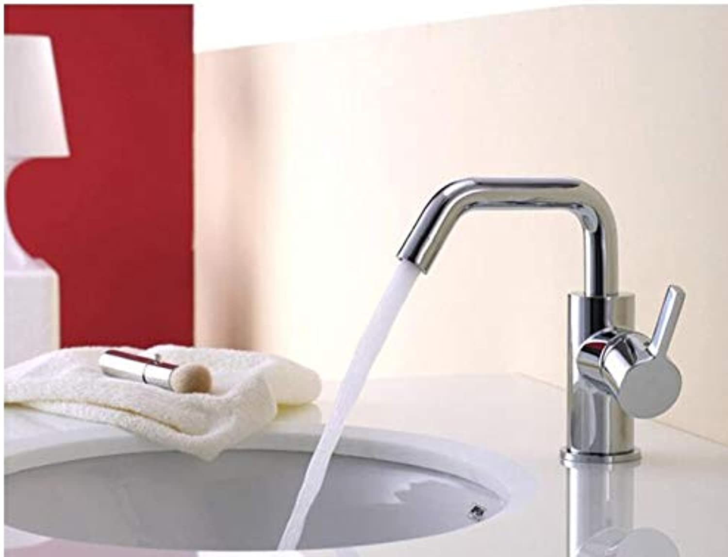 Mkkwp Single Lever Brand New Copper Bathroom Basin Faucet Mixer Chrome Hot Cold Water Mixer