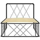 Bulufree Estructura de Cama con Estructura de Metal, Estructura de Cama de álamo de Madera Maciza práctica para la Familia, Estructura de Cama de Dormitorio 200 x 90 x 80,5 cm Gris