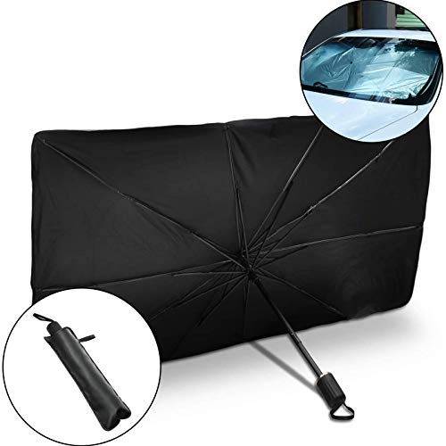 GEMWON Car Sun Shade for Front Windshield, Foldable Car Front Windshield Sun Shield, Car Sunshade Cover UV Block Car Front Window (Heat Insulation Protection) for Auto Windshield Covers Trucks Cars