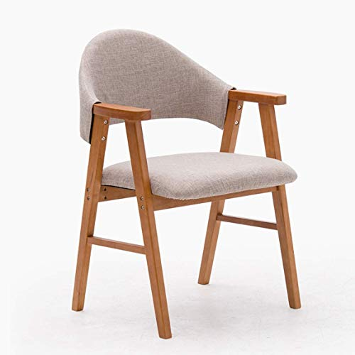 Carl Artbay eetkamerstoel, moderne eenvoudige studiestoel, rugleuning, vrijetijdsstoel, trendy bureaustoel, mooie en duurzame