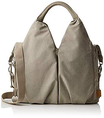 Lassig Green Label Neckline Style Diaper Shoulder Bag with Matching Bottle Holder, Baby Changing Mat/Pad and Stroller Hooks, Ecoya