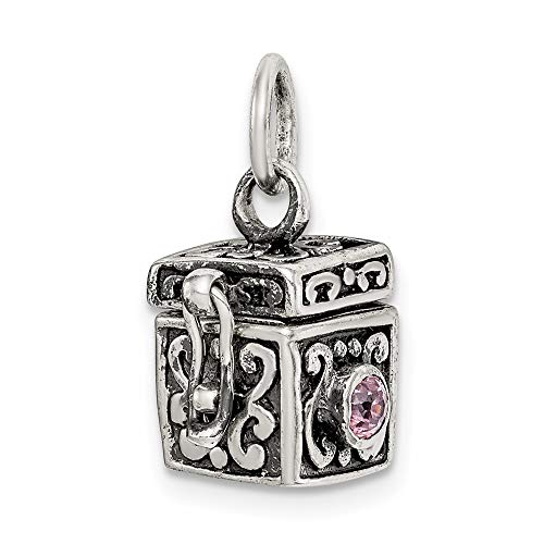 925 Sterling Silver Prayer Box Pendant Charm Necklace Religious Book Fine Jewelry For Women Gifts For Her