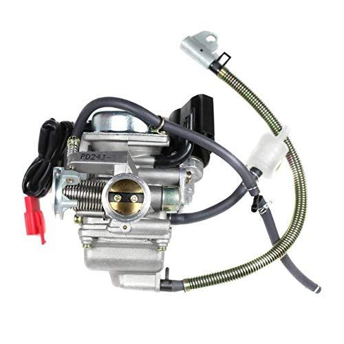 XIWEIG 24 Mm PD24J CVK Carburetor Carbohidratos con Choke Eléctrico GY6 125cc 150cc Scooter MOGED Buggy152qmi 157MJ ATV GO Kart Motor, Carb Carburador