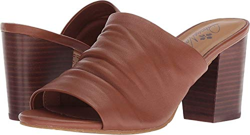 Patricia Nash Womens Poema Leather Open Toe Casual Mule, Tan Leather, Size 6.0