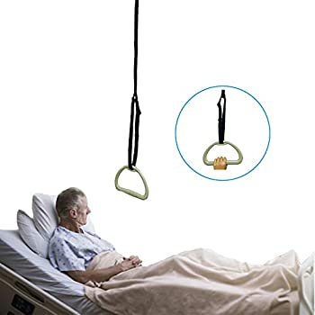 Bed Trapeze for Elderly Bed Pull Up Assist Hospital Bed Trapeze for Bed Mobility Transfer Ceiling Mounted Bar Trapeze Stand Ladder Bed Helper for Disabled