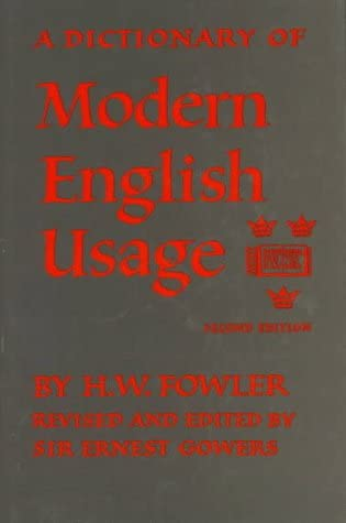 A Dictionary of Modern English Usage product image