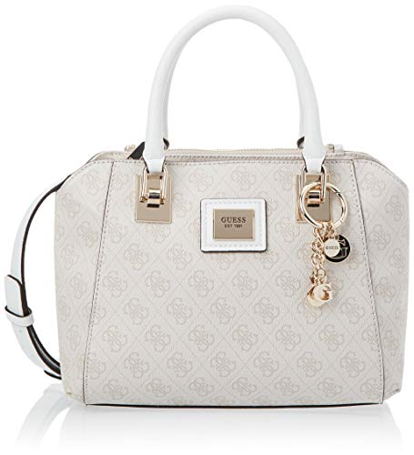 Guess Candace Society Satchel, Sac à Main Femme, Stone, Taille Unique