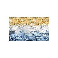 """リビングルームのポスターやプリントの抽象的な絵画海の葉カラフルな写真キャンバスウォールアート装飾的な写真11.8"""" x21.7""""(30x55cm)フレームレス"""