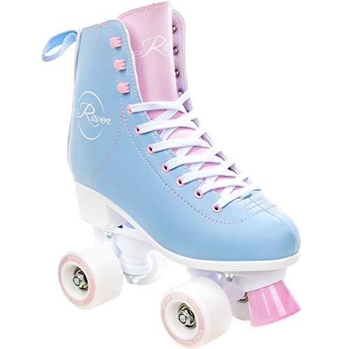 RAVEN Rollschuhe Roller Skates Elle (Blue/Pink, 37(24cm))
