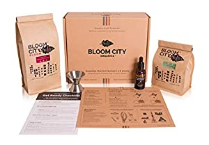 Organic Plant Grow and Bloom Kit, 4-8 Plants and Easy to Use - Includes Bloom, Grow, and Boost (Complete Kit)