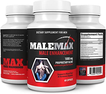 Malemax Ultimate Male Enlargement Pills- Testosterone Booster and Male Enhancement Pill- Increase Size up to 3 Inches- Male Enhancer and Mens Performance Enhancing Supplement- 60 Fast Acting Caps