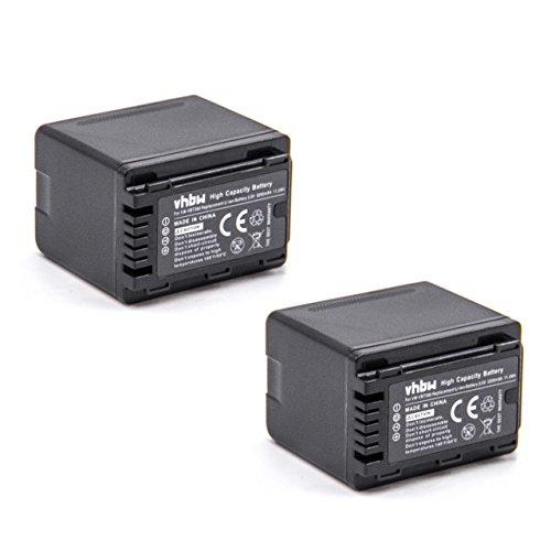 vhbw 2X Li-Ion batería 3200mAh 3.6V con Chip de información para cámara de vídeo Panasonic HC-VXF999, HC-W570, HC-W580, HC-W850EB, VXF-999, HC-VXF1