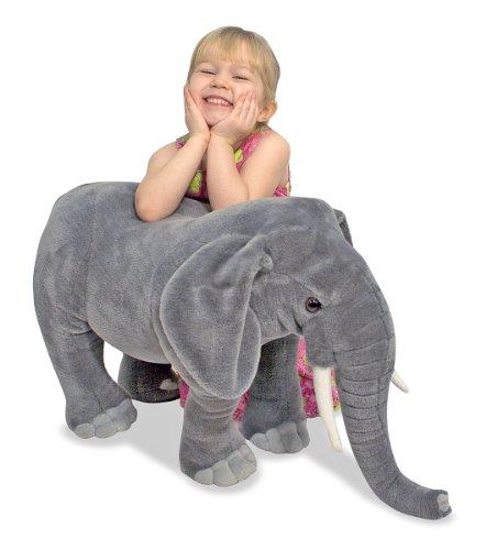 Melissa & Doug- Peluche Gigante Elefante, Colore Grigio, 2185